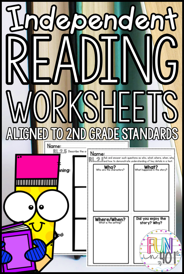 Independent Reading Worksheets for Second Grade Guided and.