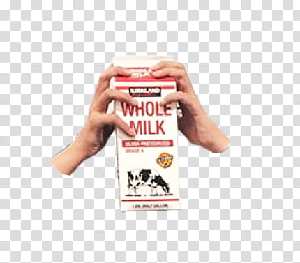 Whole Milk box transparent background PNG clipart.