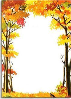Fall Tree Border Clip Art Free.