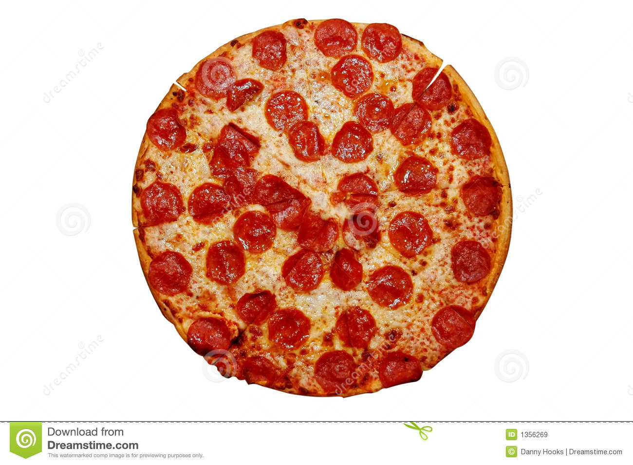Whole Pepperoni Pizza Royalty Free Stock Images.