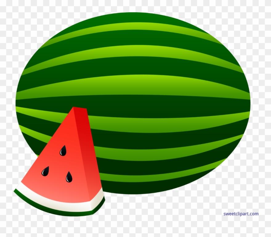 Watermelon Whole Slice Clip Art Clipart.