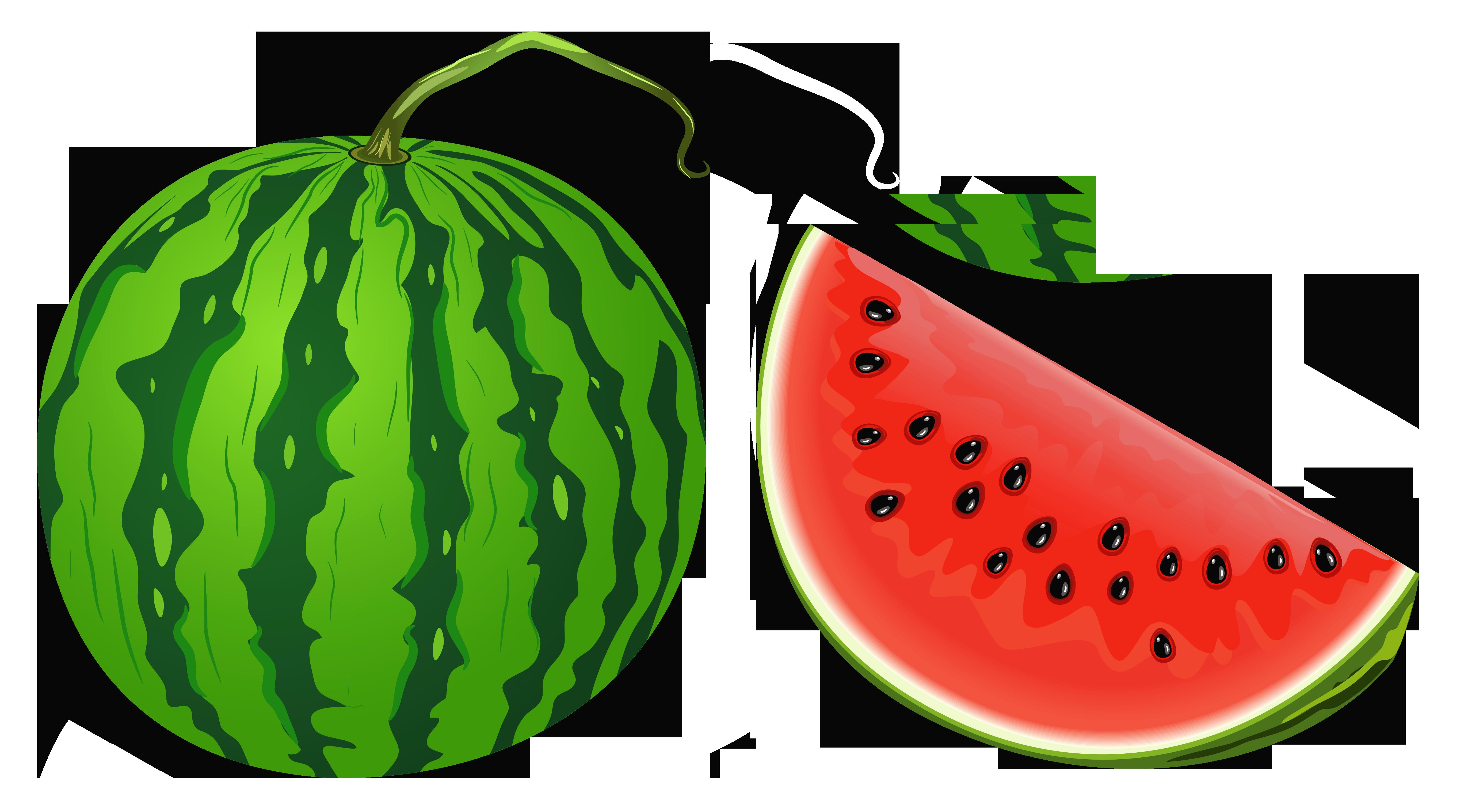 Whole Watermelon Clipart.