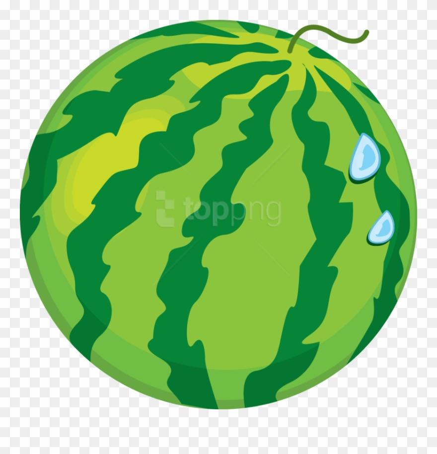 Watermelon Clipart Cartoon Whole.