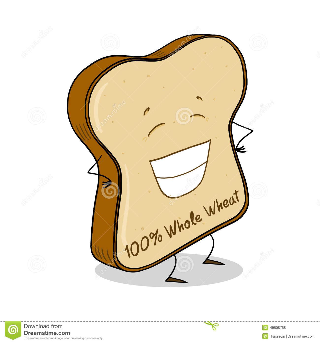 Whole Wheat Bread Slice Illustration Stock Illustration.