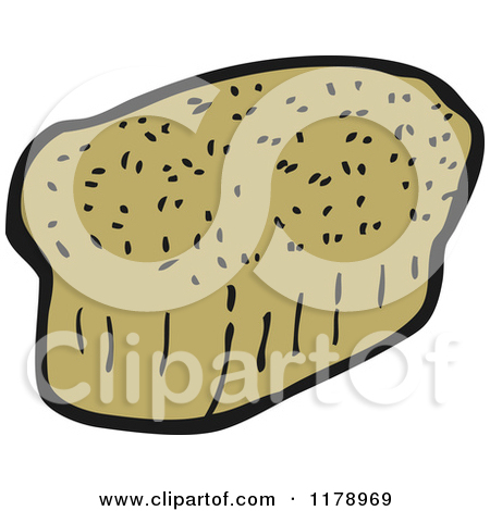 Cartoon of a Loaf of Whole Wheat Bread.