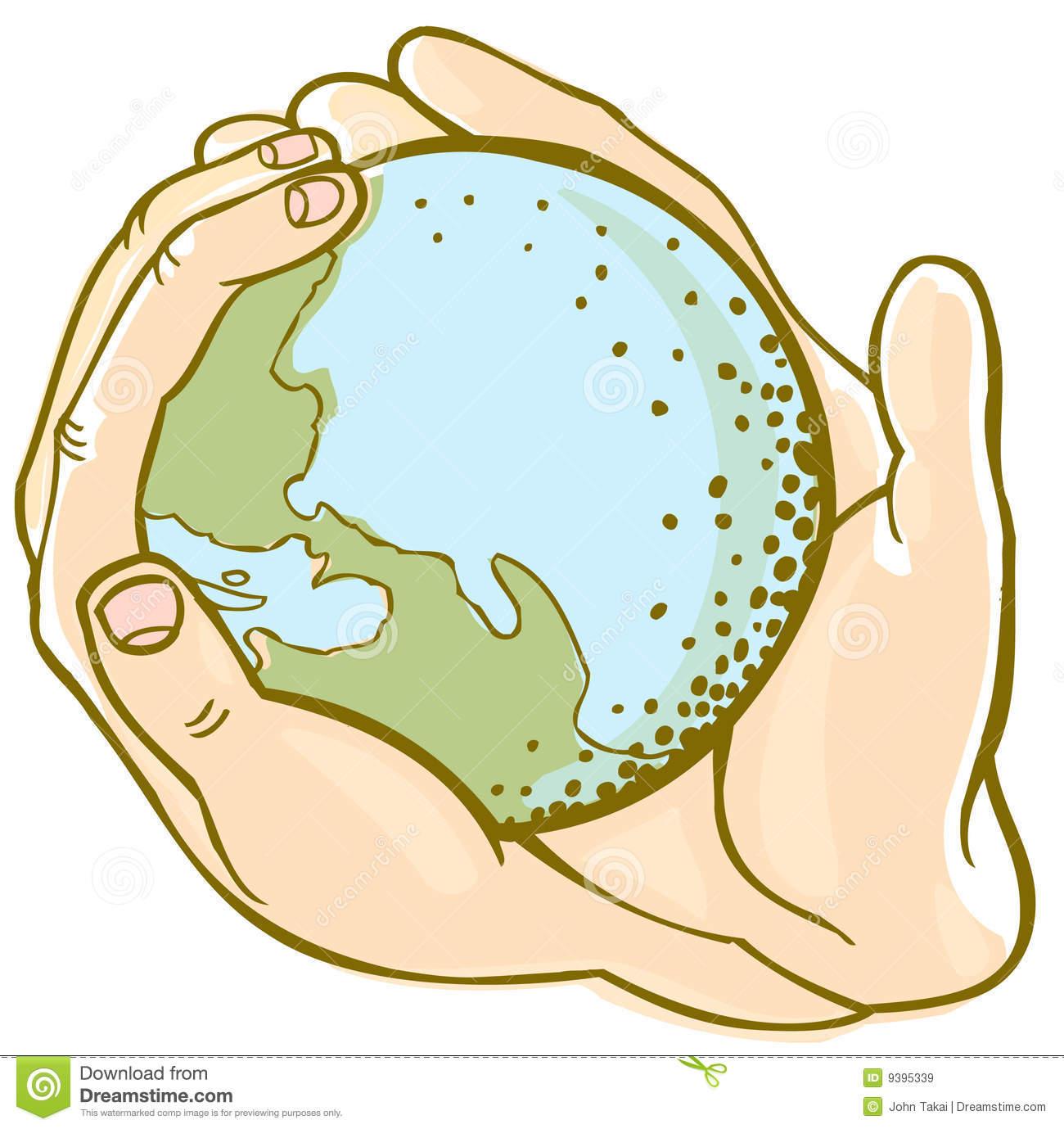 Earth hands stock vector. Illustration of nurture, decoration.