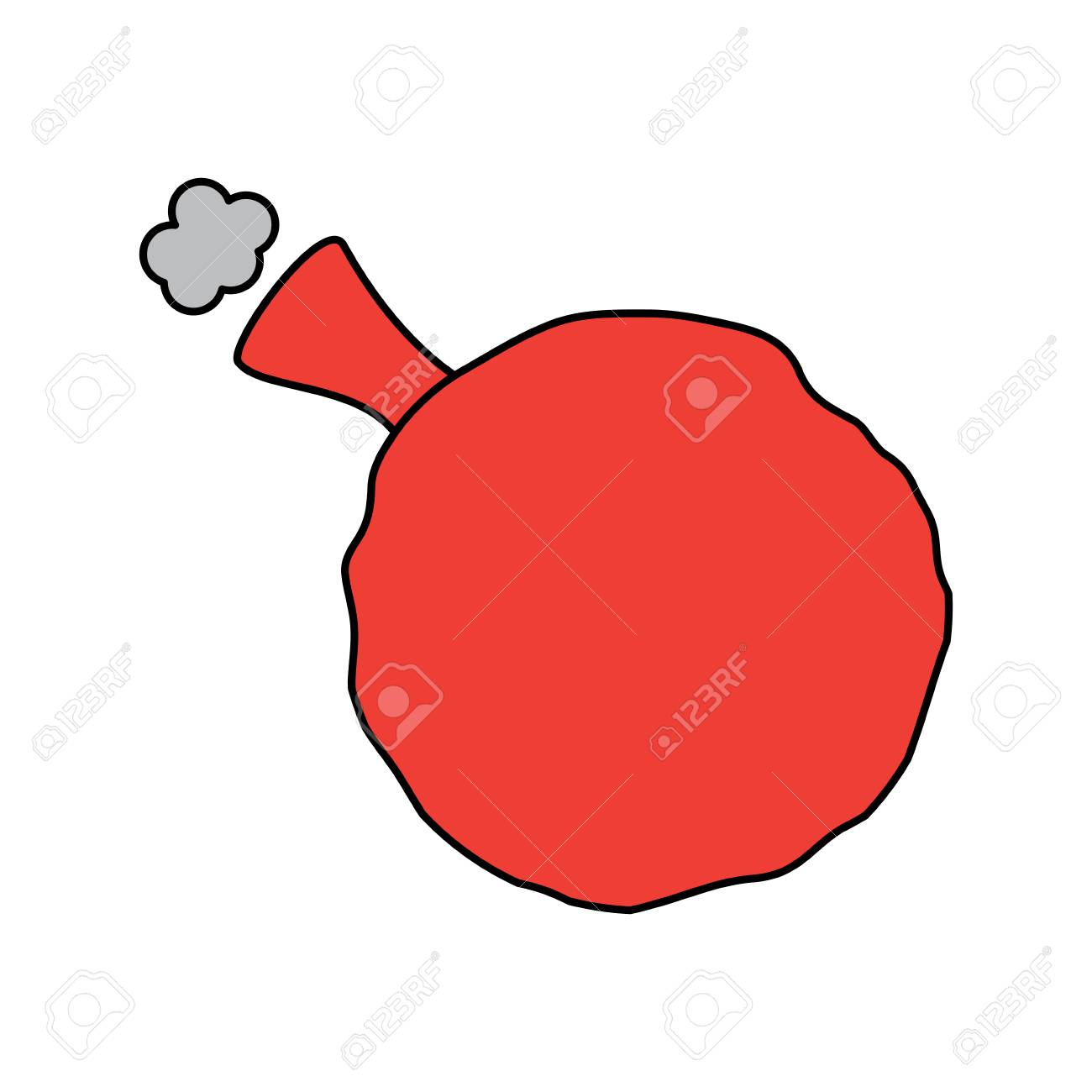 whoopee cushion prank humor rubber vector illustration.
