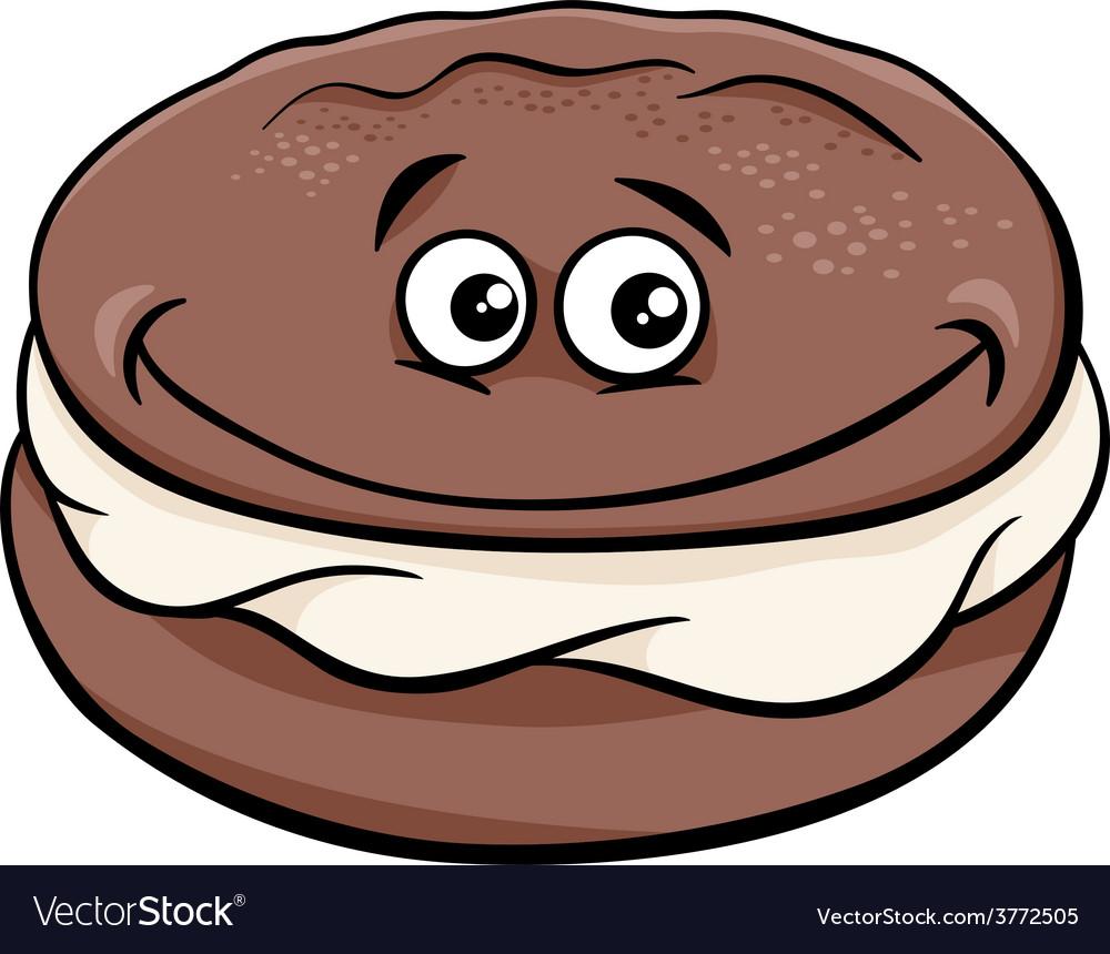 Whoopie pie cartoon.