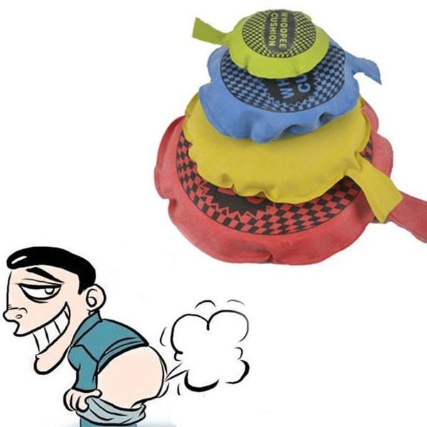 4 Sizes 1Pc Joke Ragging Toy Fart Pad Sponge Whoopee Cushion.