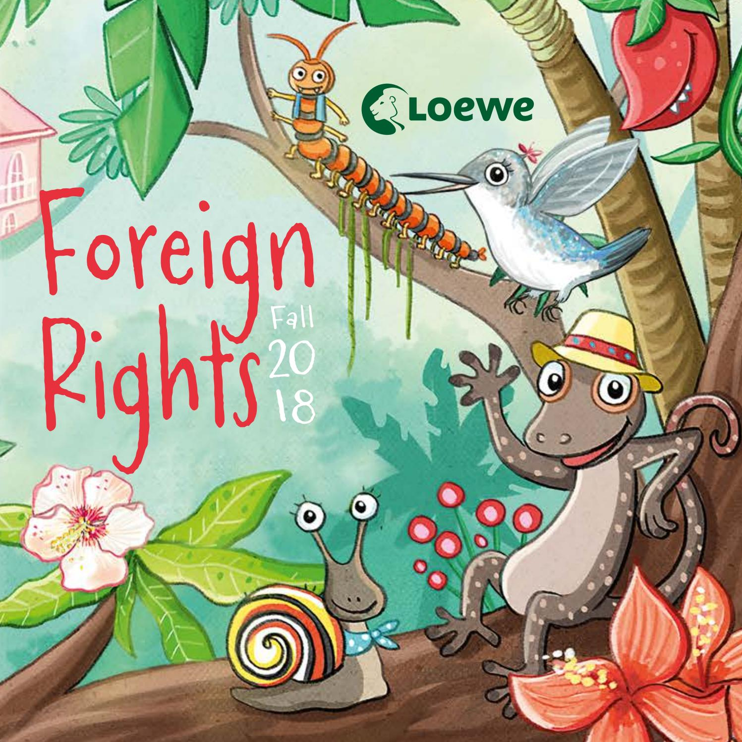 Foreign Rights Catalogue Fall 2018 by Loewe Verlag.