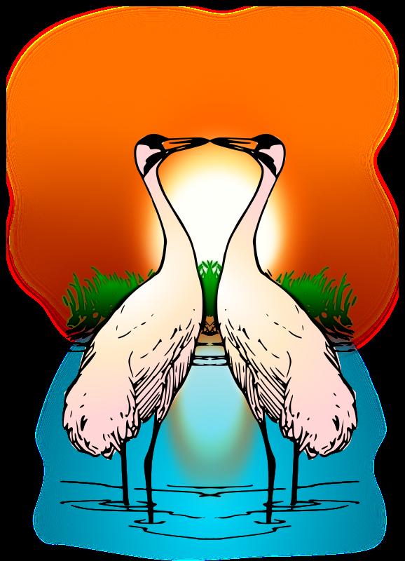 Free to Use & Public Domain Crane Bird Clip Art.