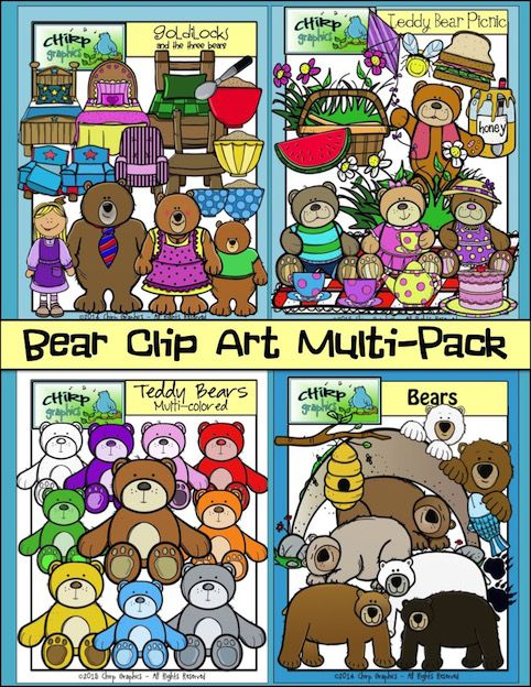 This 4 pack Bear clip art set contains a whopping 136 images. It.