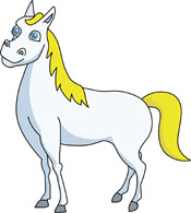 Clipart Of White Horse.