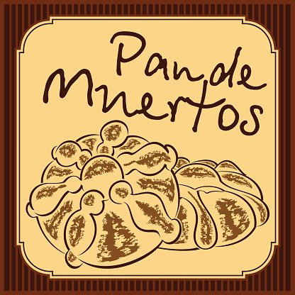 Pan de muerto. Mexican bread of the dead.