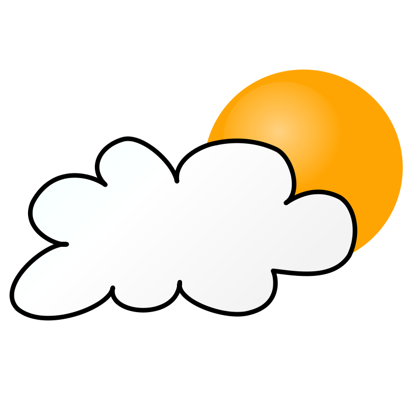 Free Clipart: Weather Symbols: Cloudy Day simple.