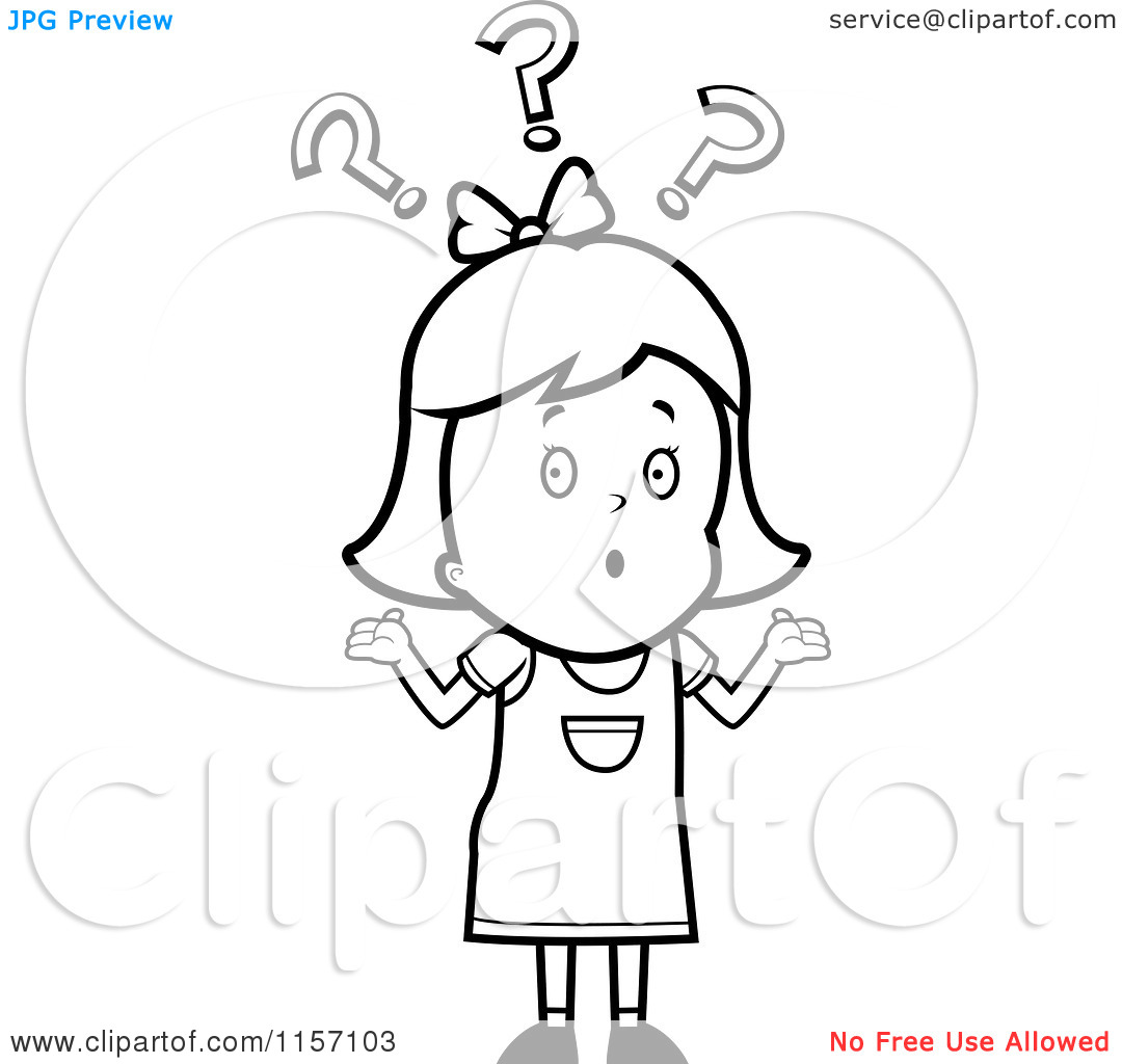 confused girl clipart black and white 20 free Cliparts.