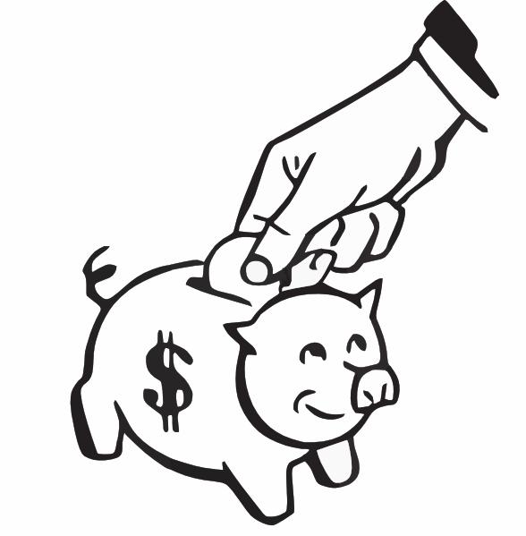 Saving Money Clipart Black And White.