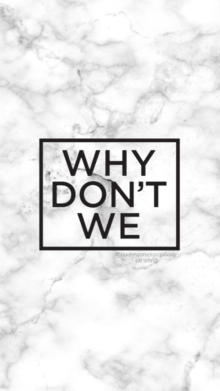 Why Don\'t We logo on marble wallpaper on We Heart It.