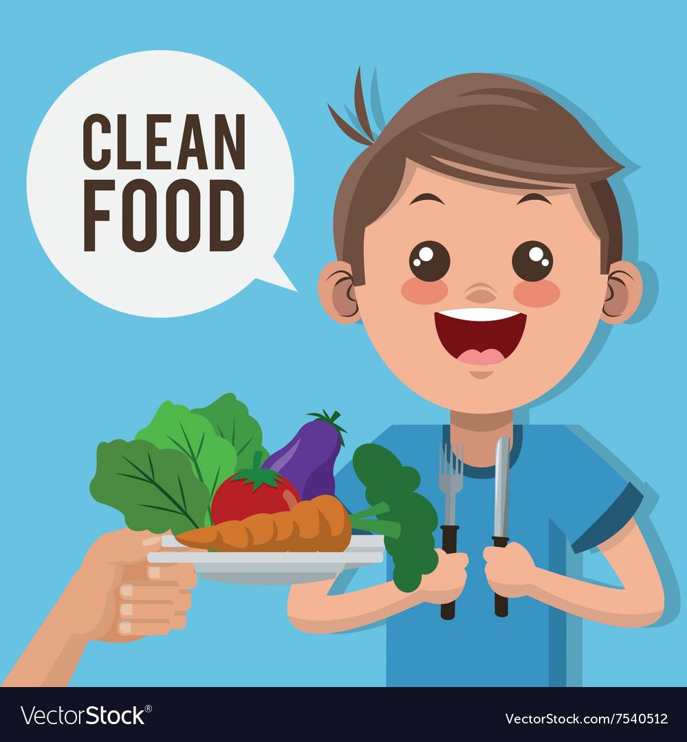 Clean food design.