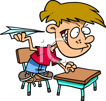 Student Not Working Clipart.