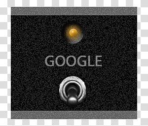 PANEL dock icons, GOOGLE, gray and black Google logo.