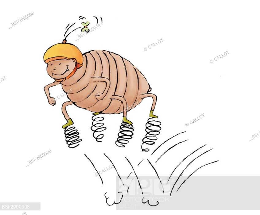 Louse getting on rings to jump : \' the lice do not jump.