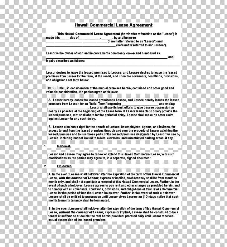 Document Lease Rental agreement Contract Real property.