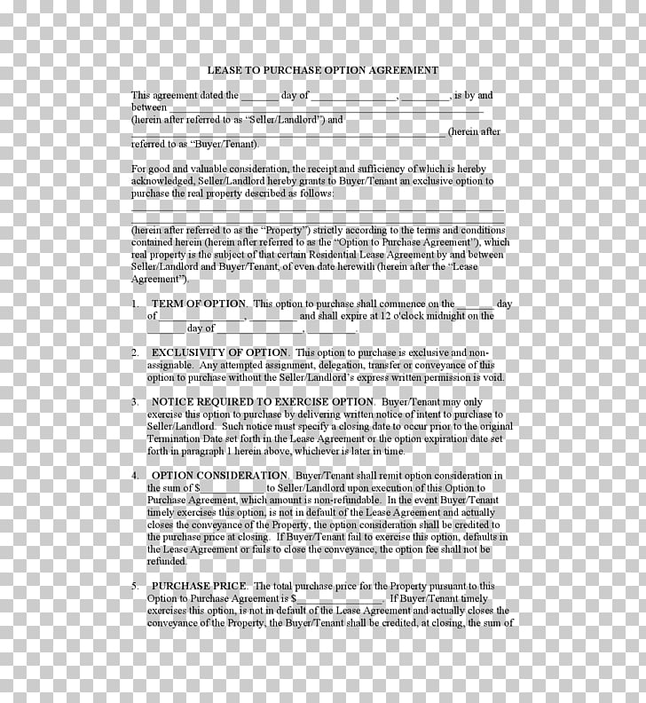 Lease purchase contract Lease.