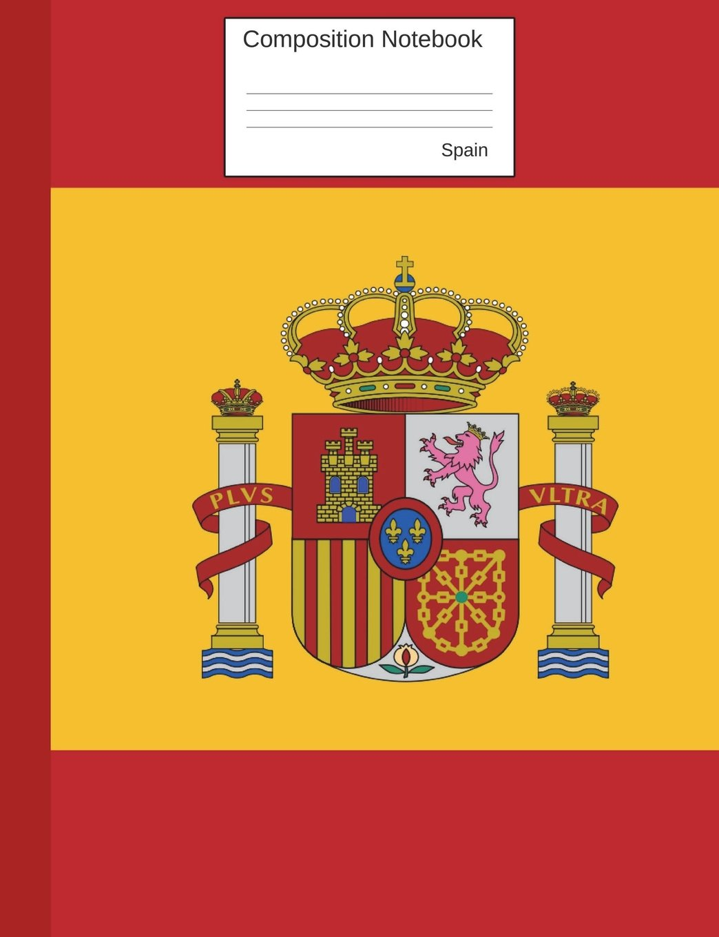 Spain Composition Notebook: Graph Paper Book to write in for.