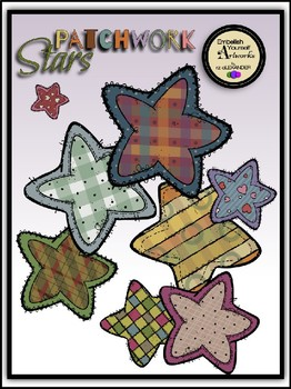 Patchwork Stars Clipart.