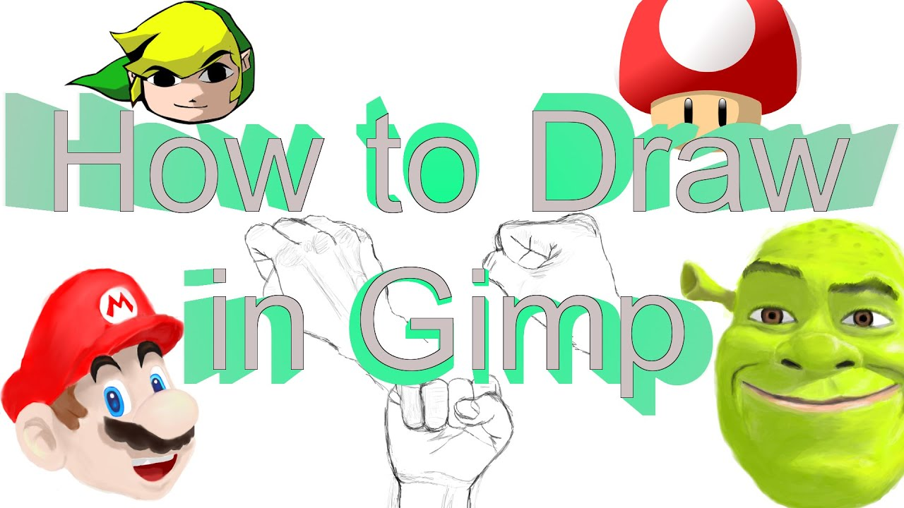 How to use Gimp like an Artist (How to draw in Gimp).