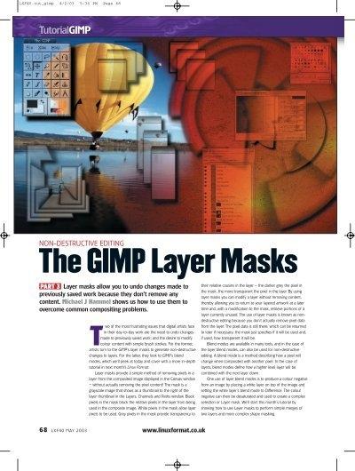 The GIMP Layer Masks.