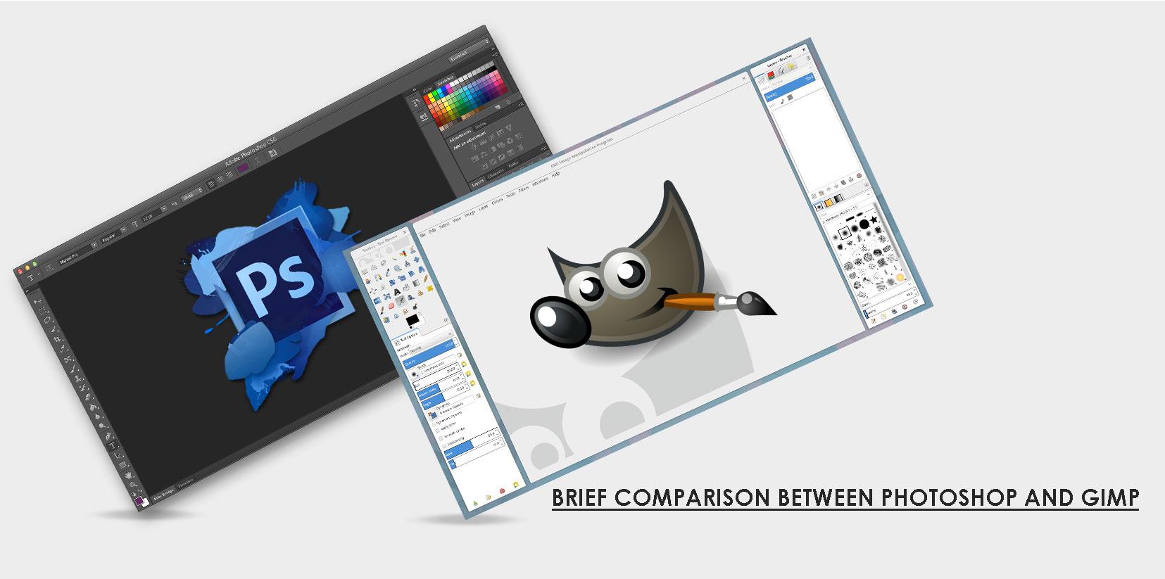 Adobe Photoshop vs. GIMP.
