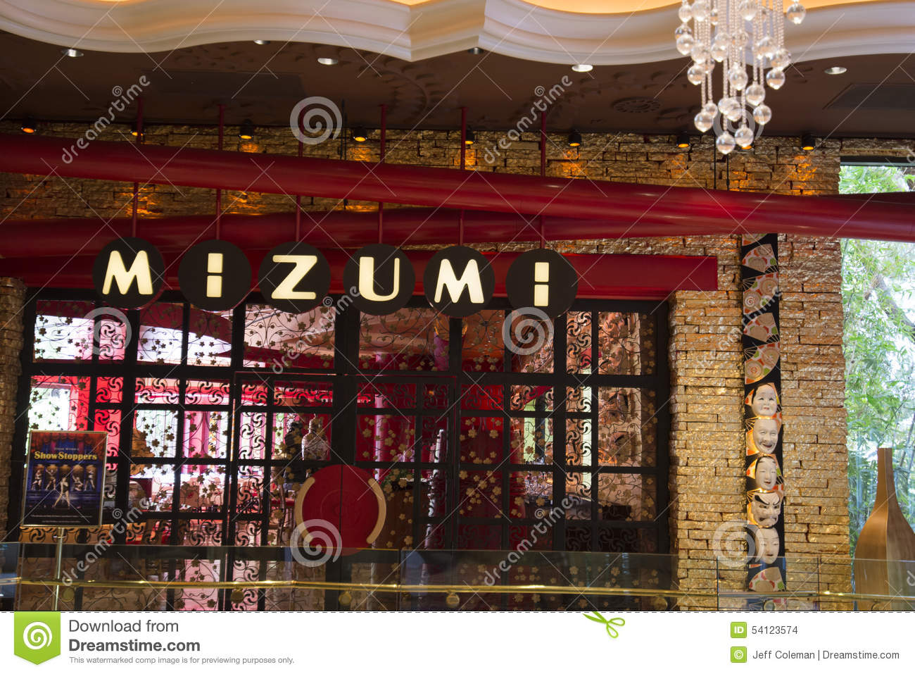 Mizumi Restaurant Inside Of The Wynn Hotel, Las Vegas. Editorial.