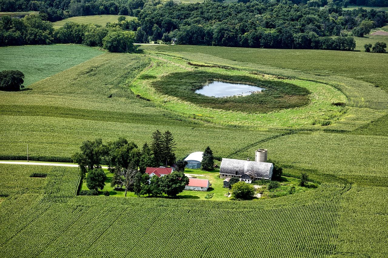 Wisconsin,aerial view,farm,landscape,scenic.