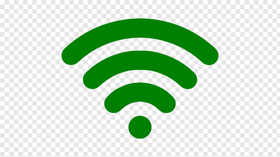Green WiFi logo illustration, Wi.