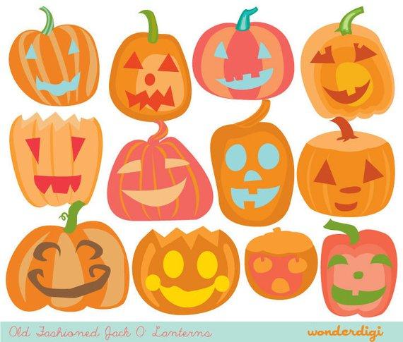 Halloween Clip art Pumpkin Jack O lantern.
