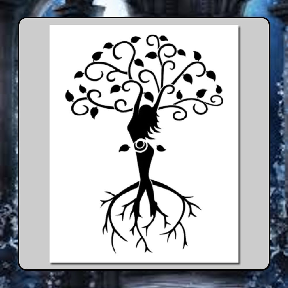Details about 8 X 10 STENCIL Tree of Life Wiccan Spiral.