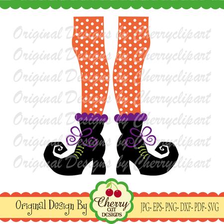 Halloween Witch feet SVG,Halloween svg Silhouette and Cricut Cut Design,  mermaid clip art, T.