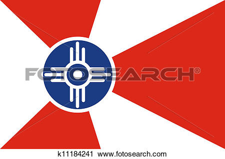 Clipart of Wichita flag k11184241.