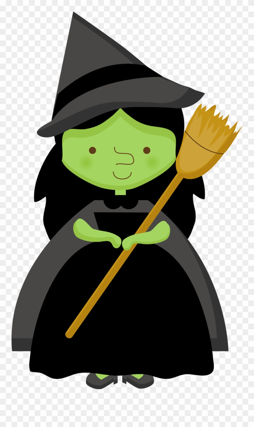 Halloween Witch Clip Art.