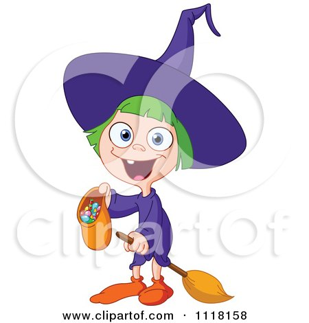 Clipart of a Black and White Witch Face Emoji.