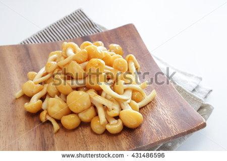 Nameko Mushrooms Stock Photos, Royalty.