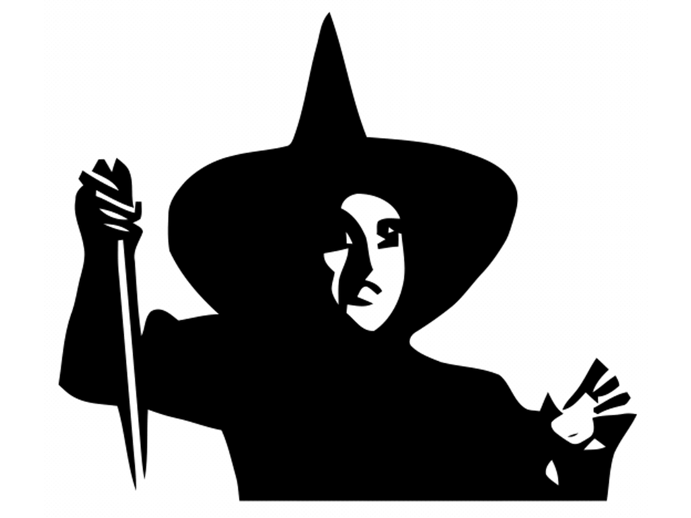 Wizard of oz wicked witch clipart.