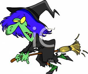 A Cartoon of a Wicked Witch.