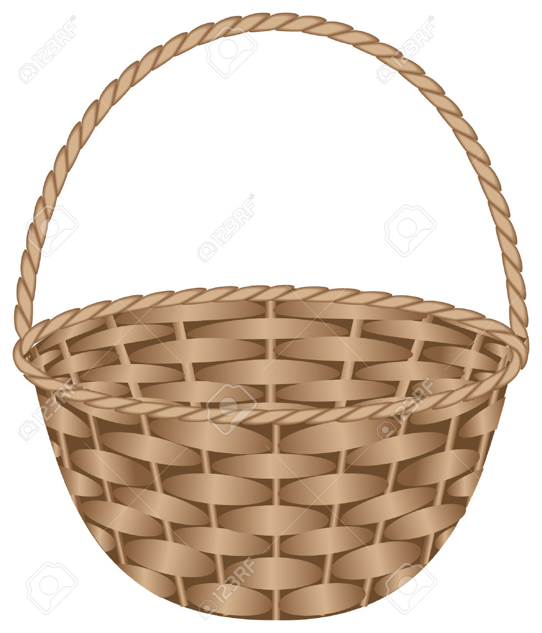 Weaved basket clipart.