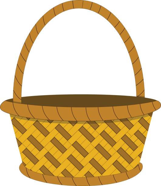 Wicker Picnic Basket Clip Art, Vector Images & Illustrations.