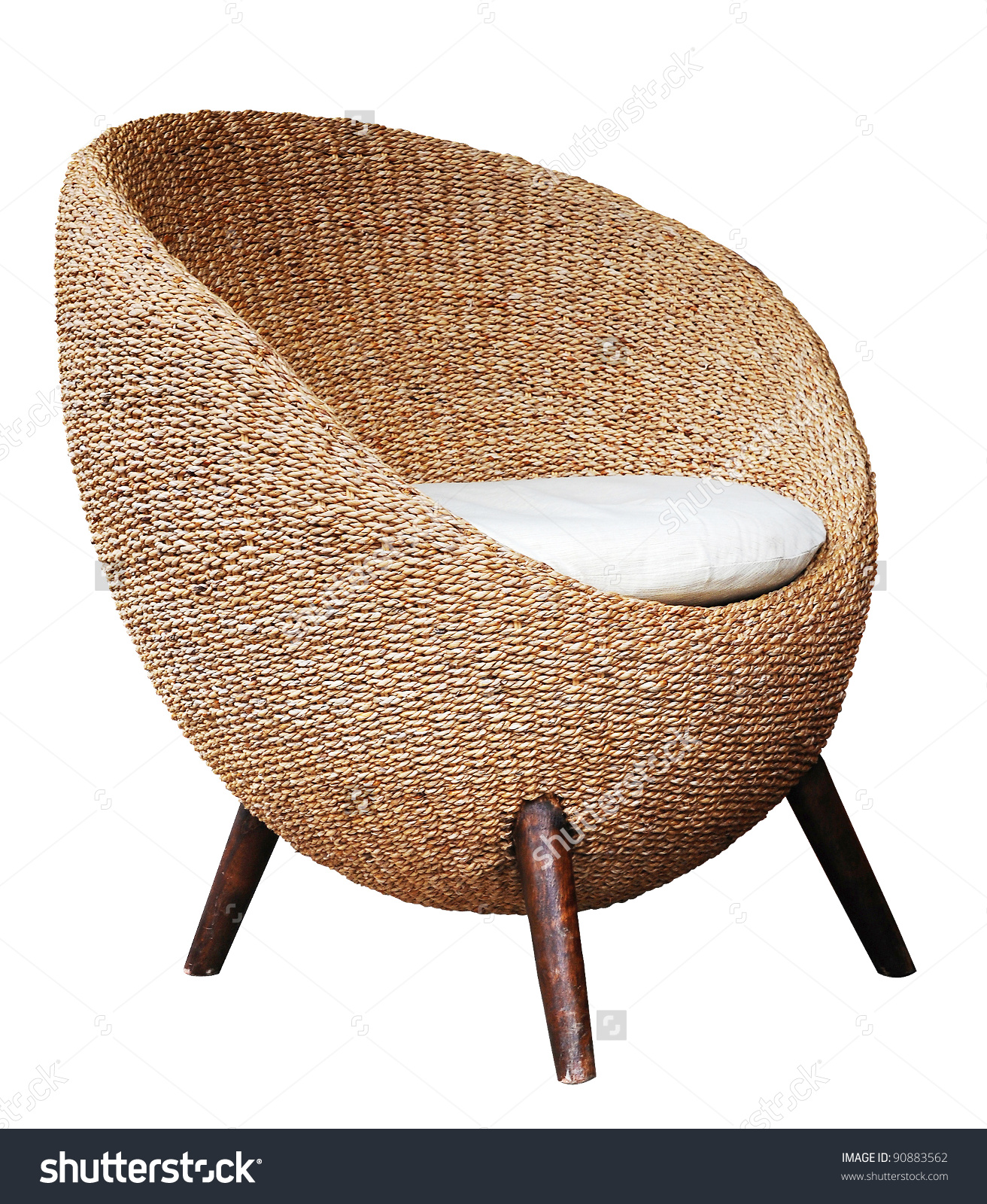 Round Wicker Chairs On White Background Stock Photo 90883562.