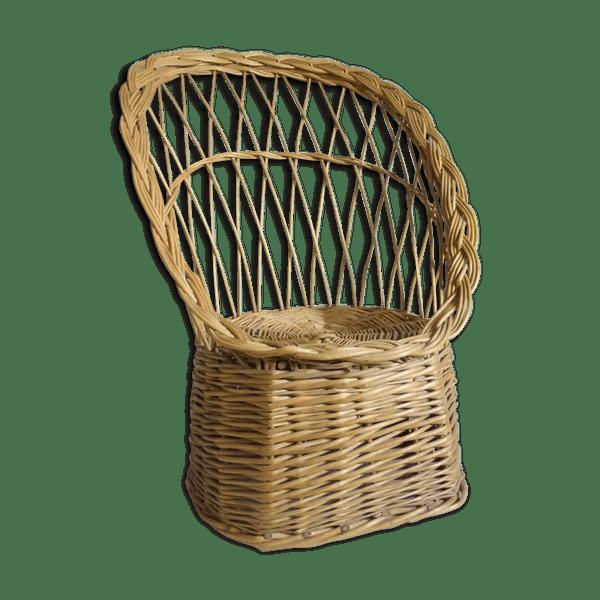 Children's wicker chair 70s.