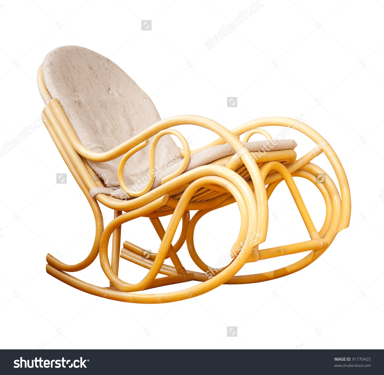 A Wicker Rocking Chair Stock Photo 91770425 : Shutterstock.